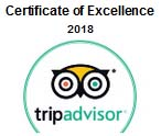 Trip Advisor award for excellence