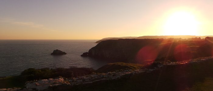 Sunset over Berry Head