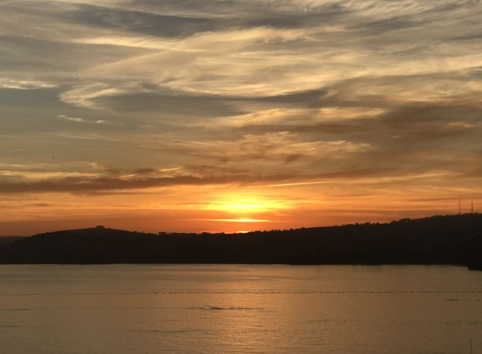 Sunset over Torquay Bay