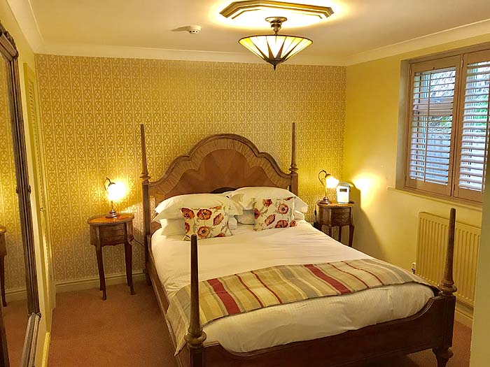 The redecorated bedroom in The Garden Suite, The Somerville B&B, 2019
