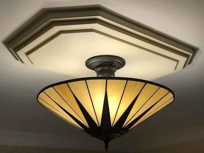 New lighting in The Garden Suite, part of the Somerville B&B, 2019