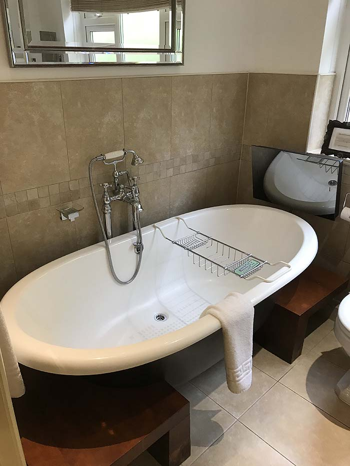 The redecorated bathroom in The Garden Suite, The Somerville B&B, 2019