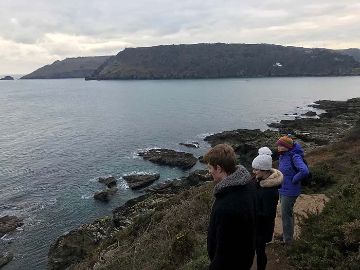 Looking out to sea while walking in The Salcombe area, Devon, 2018-19