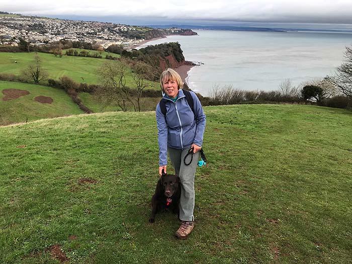Up high on a SW Coast Path walk, Shaldon to Torquay