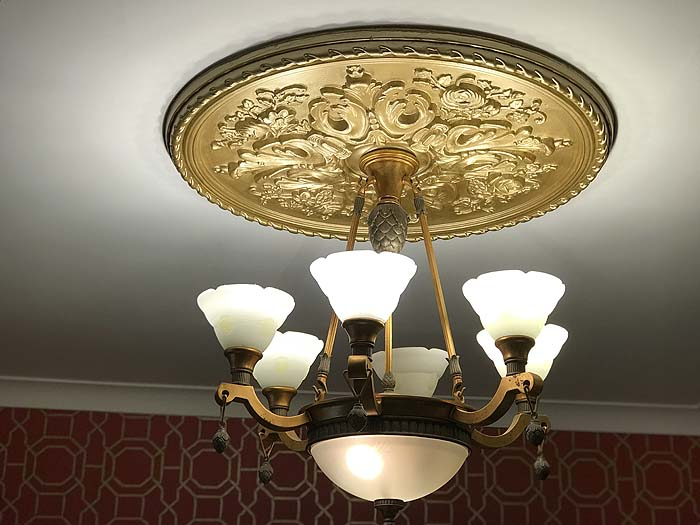New lighting in the Somerville Suite, part of the Somerville B&B