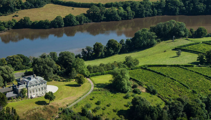 Photo: The Sharpham Estate from above