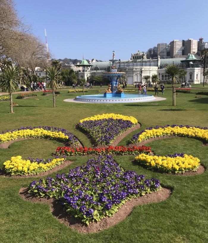 Torquay's Princess Gardens in Spring 2019