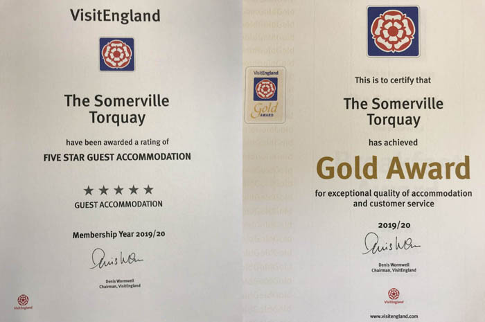 The Somerville - 2019-2010 Five Star rating and Gold Award