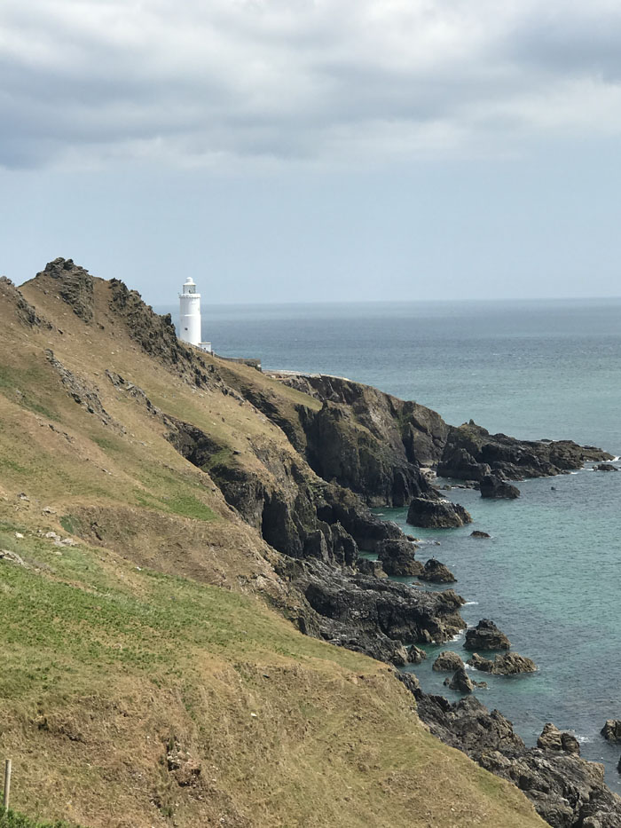 Walking parts of the south coast's coastal path route