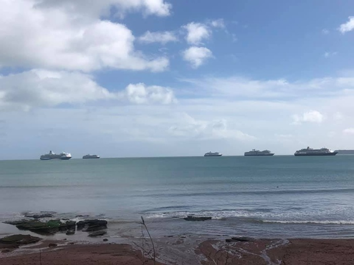 Cruise ships in Torbay Harbour, 2021