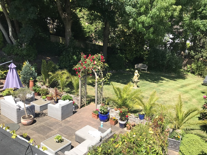 The garden at The Somerville, Torquay