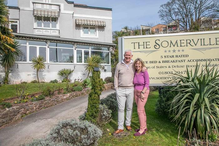Peter and Helen Bland, in The Somerville garden