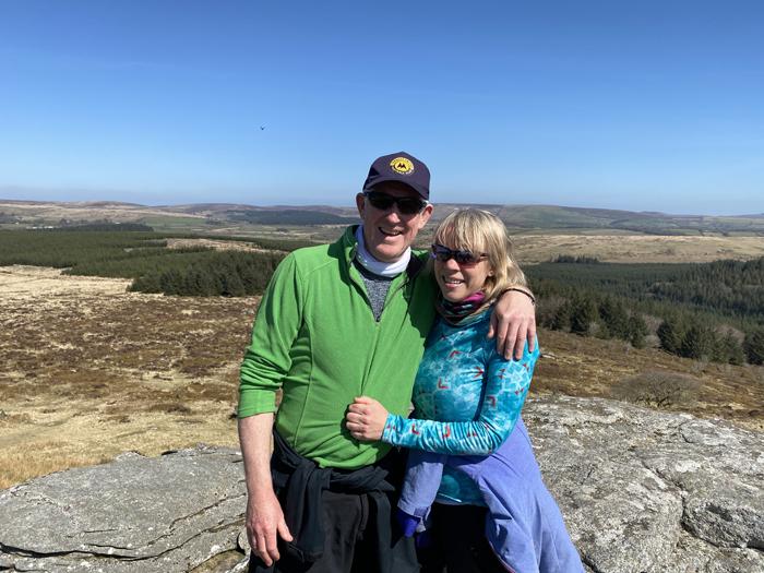 Walking on Bellever Tor, Dartmoor
