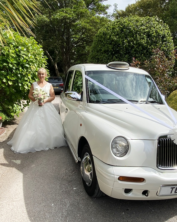 A bride leaving The Somerville